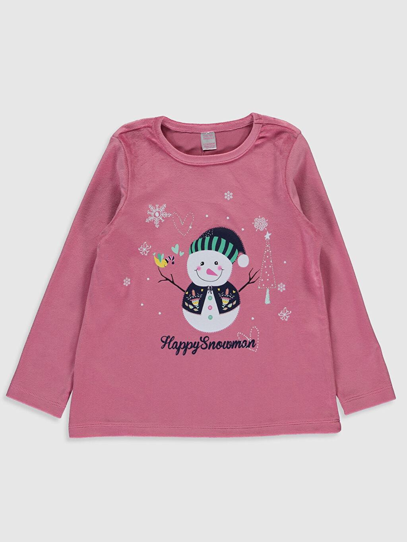 Kız Çocuk Kız Çocuk Kadife Pijama Takımı