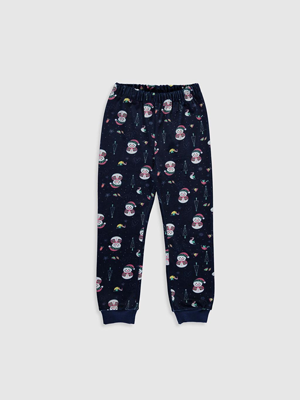 %93 Polyester %7 Elastan Kız Çocuk Kadife Pijama Takımı