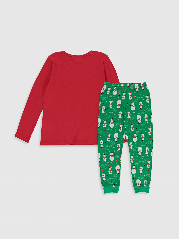 %100 Pamuk Standart Pijamalar Kız Çocuk Baskılı Pamuklu Pijama Takımı