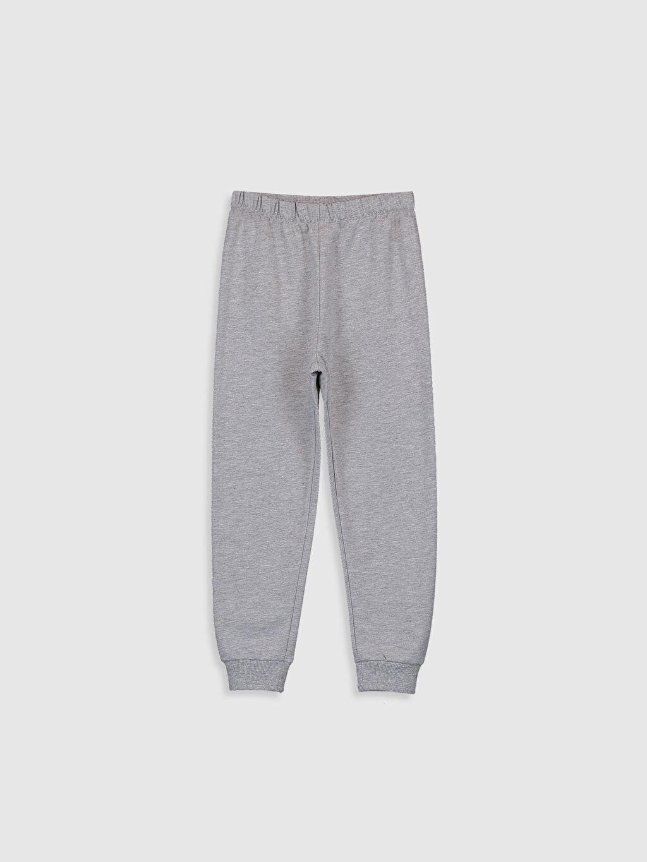 %100 Pamuk Kız Çocuk Yazı Baskılı Pamuklu Pijama Takımı