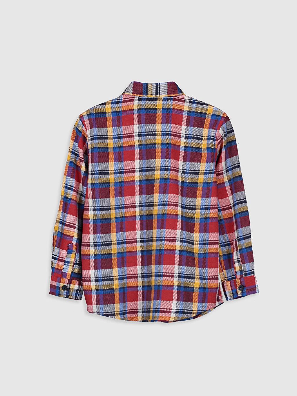 %100 Pamuk Ekoseli Uzun Kol Standart Erkek Çocuk Pamuklu Ekose Gömlek