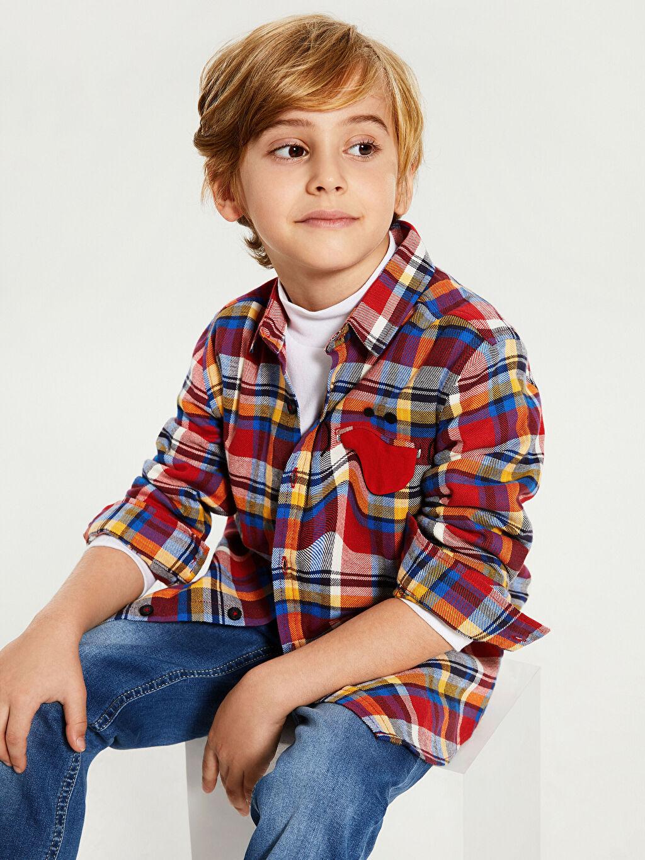 Erkek Çocuk Erkek Çocuk Pamuklu Ekose Gömlek