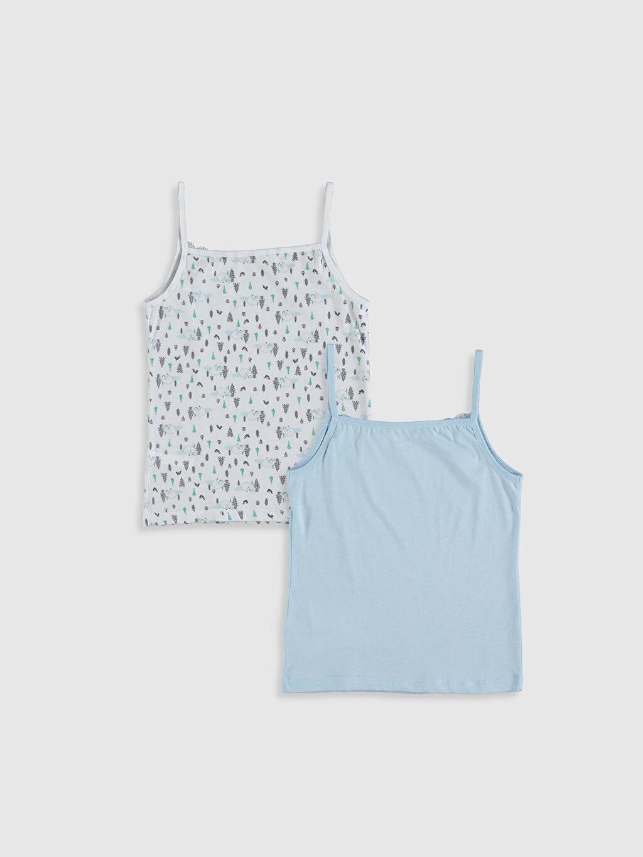%100 Pamuk Standart İç Giyim Üst Kız Çocuk Pamuklu Atlet 2'li