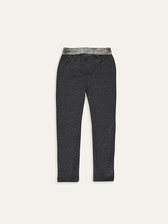 %20 Pamuk %61 Polyester %17 Viskoz %2 Elastan Normal Bel Standart Kız Çocuk Jakarlı Pantolon