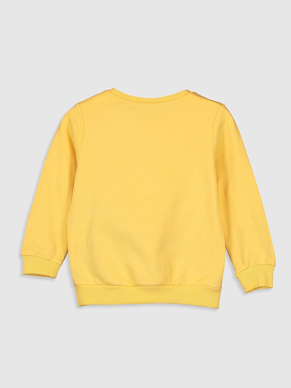 %100 Pamuk  Kız Çocuk Baskılı Ponpon Detaylı Sweatshirt