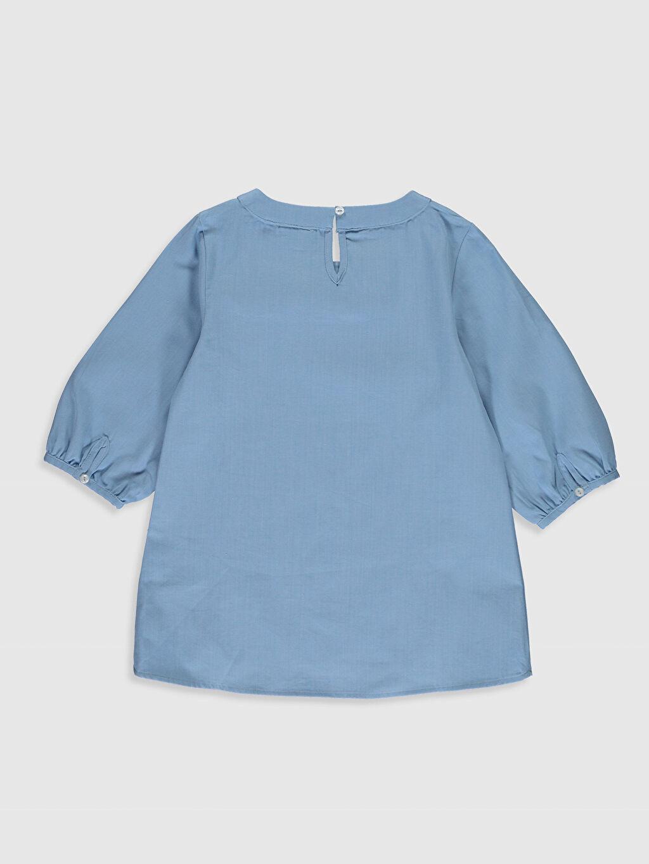 %100 Pamuk Desenli Standart Kısa Kol Bluz Kız Çocuk Çiçekli Poplin Bluz
