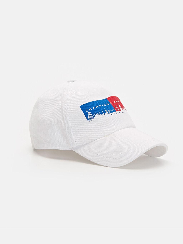 Beyaz Erkek Çocuk Pamuklu Şapka 9WP416Z4 LC Waikiki