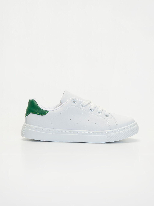 Beyaz Erkek Çocuk Bağcıklı Spor Ayakkabı 9WP448Z4 LC Waikiki