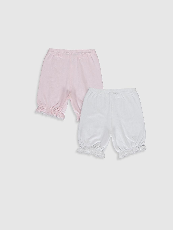 %95 Pamuk %5 Elastan Standart İç Giyim Alt Kız Çocuk Pamuklu Boxer 2'li