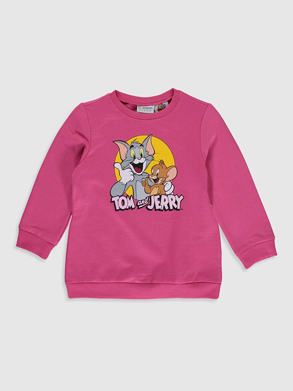 Fuşya Kız Çocuk Tom ve Jerry Baskılı Sweatshirt 9WP673Z4 LC Waikiki