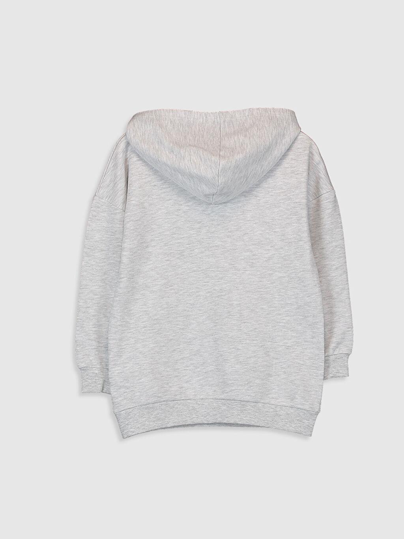 %69 Pamuk %31 Polyester  Kız Çocuk Garfield Baskılı Kapüşonlu Sweatshirt