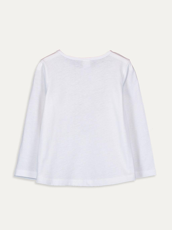 %100 Pamuk Standart Baskılı Uzun Kol Tişört Bisiklet Yaka Kız Bebek Minnie Mouse Pamuklu Tişört