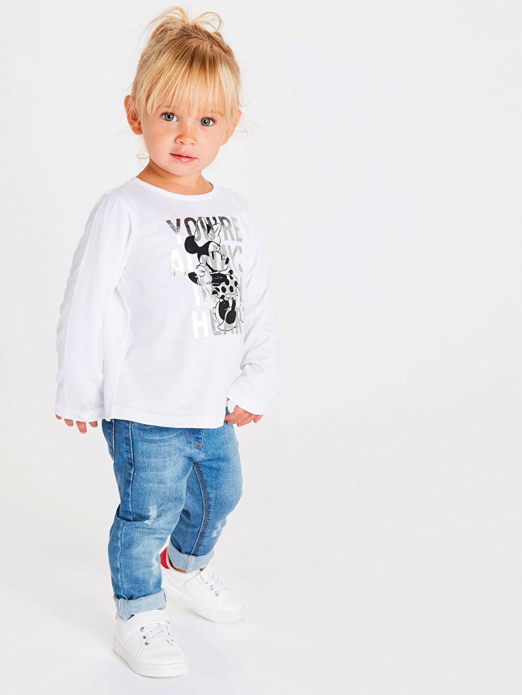 Kız Bebek Kız Bebek Minnie Mouse Pamuklu Tişört