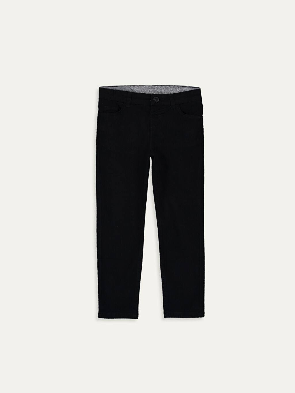 Siyah Erkek Çocuk Slim Gabardin Pantolon 9WQ784Z4 LC Waikiki