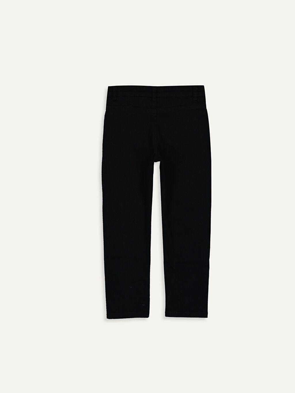 %98 Pamuk %2 Elastan Dar Normal Bel Erkek Çocuk Slim Gabardin Pantolon