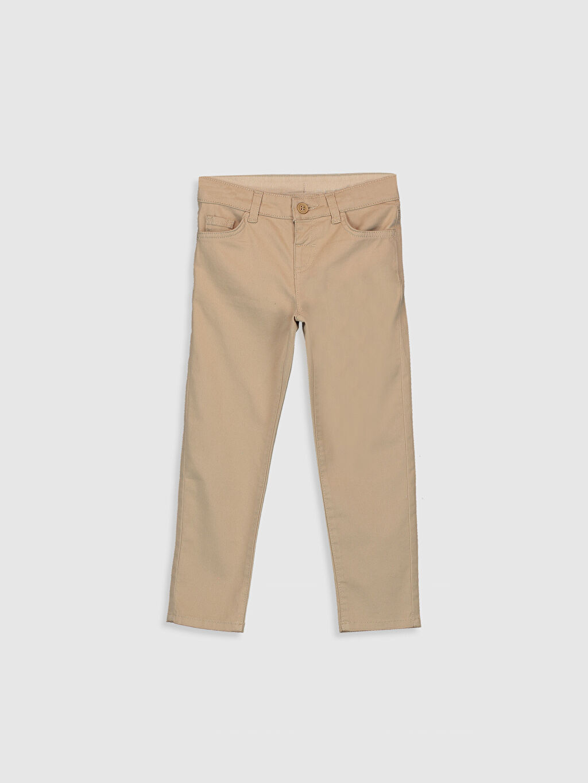 Bej Erkek Çocuk Slim Gabardin Pantolon 9WQ784Z4 LC Waikiki