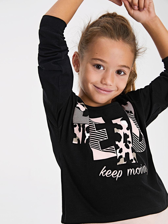 Kız Çocuk Kız Çocuk Baskılı Tişört ve Atlet