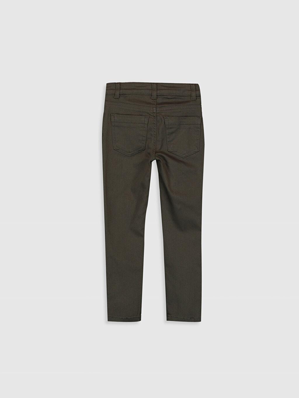%97 Pamuk %3 Elastan Normal Bel Dar Kız Çocuk Skinny Gabardin Pantolon
