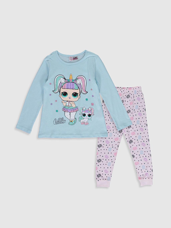Mavi Kız Çocuk Lol Bebek Baskılı Pamuklu Pijama Takımı 9WR141Z4 LC Waikiki