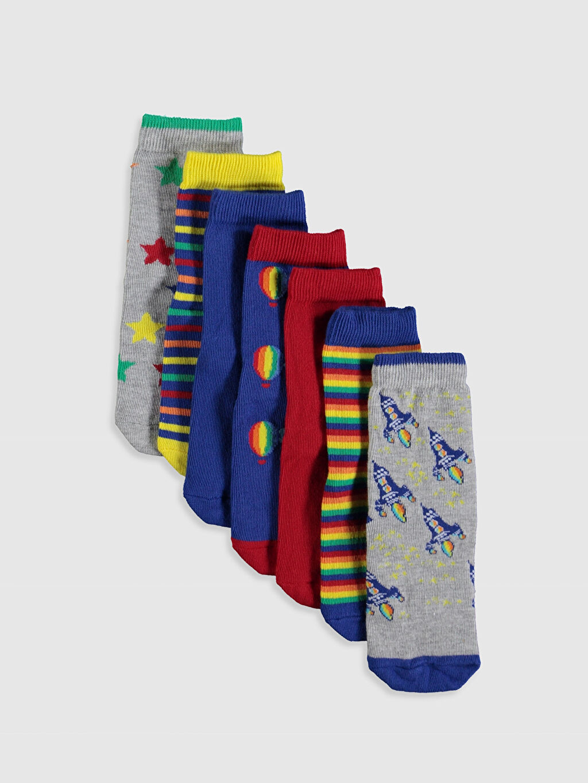 Çok Renkli Erkek Çocuk Soket Çorap 7'li 9WR398Z4 LC Waikiki