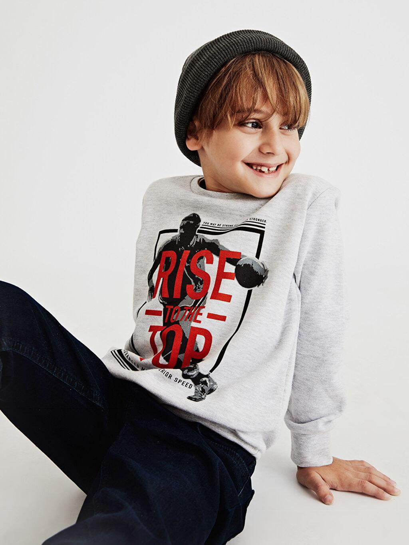 Erkek Çocuk Erkek Çocuk Baskılı Uzun Kollu Tişört
