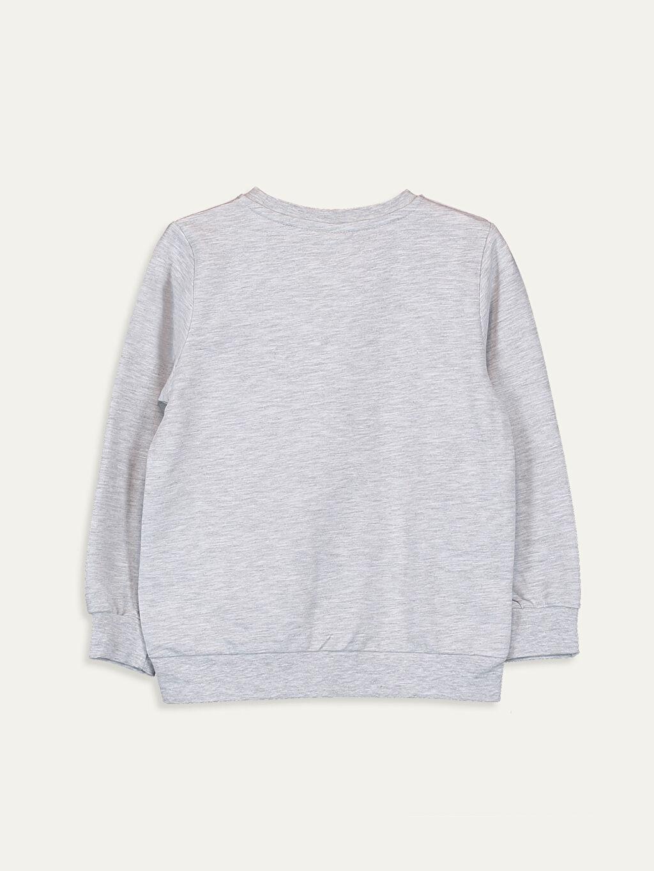 %58 Pamuk %42 Polyester  Erkek Çocuk Yazı Baskılı Sweatshirt