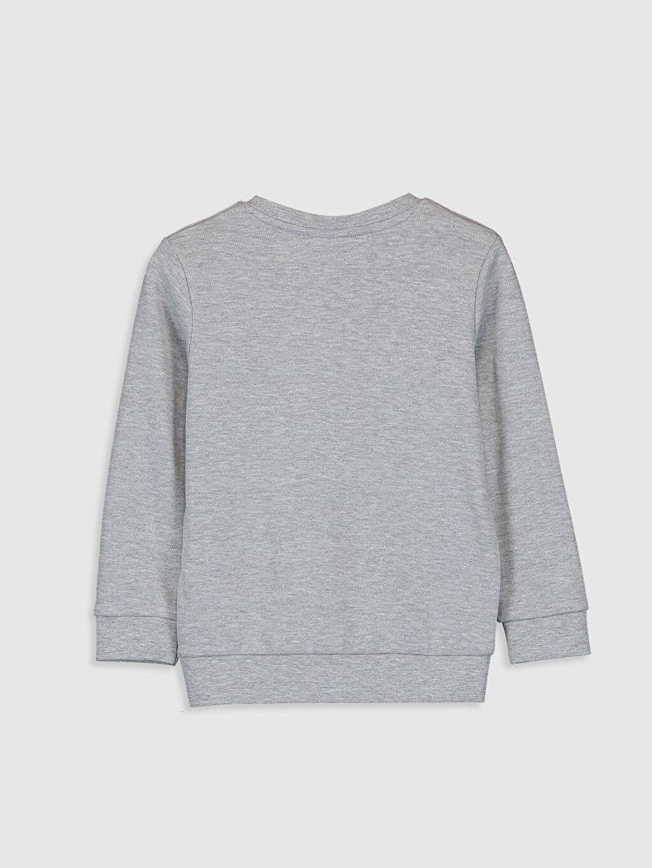%67 Pamuk %33 Polyester Tişört Uzun Kol Baskılı Dar Bisiklet Yaka Erkek Çocuk Baskılı Uzun Kollu Tişört