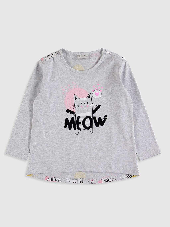 Kız Çocuk Kız Çocuk Baskılı Tişört ve Tayt