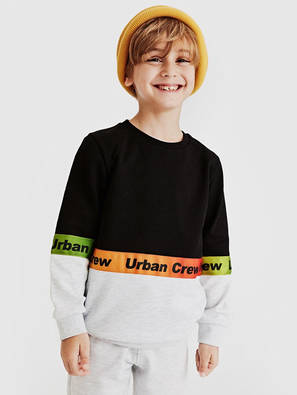 Erkek Çocuk Erkek Çocuk Yazı Baskılı Sweatshirt