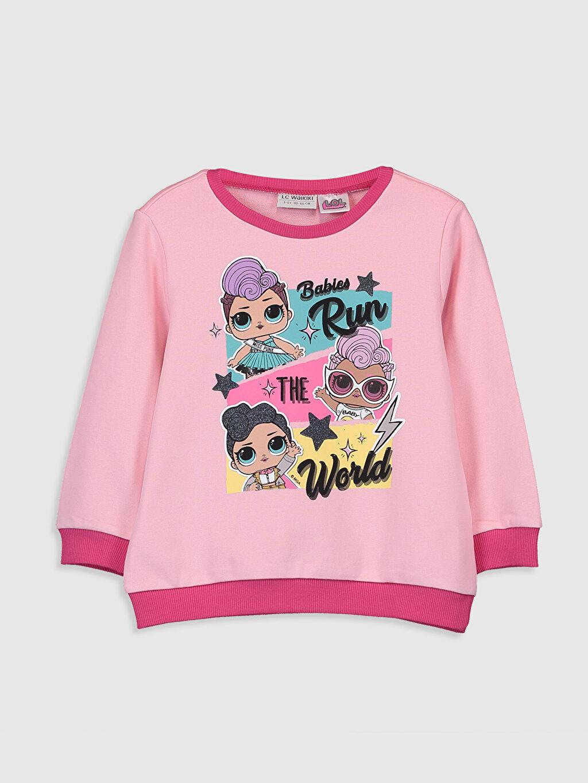Pembe Kız Çocuk Lol Bebek Baskılı Sweatshirt 9WS308Z4 LC Waikiki