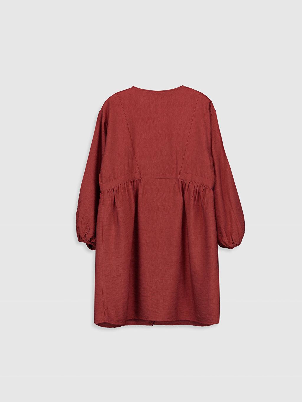 %3 Poliamid %97 Viskoz %100 Pamuk Diz Üstü Düz Kız Çocuk Fiyonk Detaylı Viskon Elbise