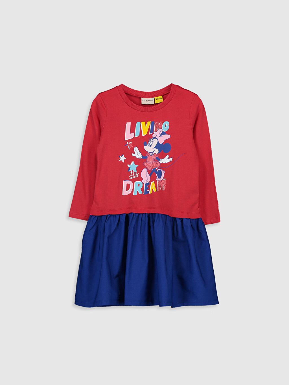 Kırmızı Kız Çocuk Minnie Mouse Elbise 9WS553Z4 LC Waikiki