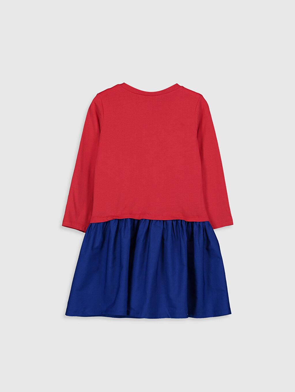 %100 Pamuk Diz Üstü Desenli Kız Çocuk Minnie Mouse Elbise