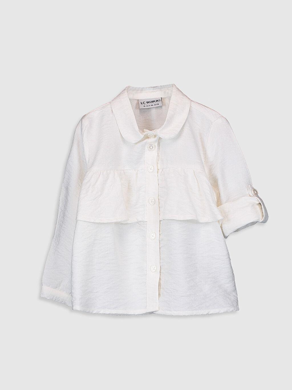 Kız Bebek Kız Bebek Fırfırlı Viskon Gömlek