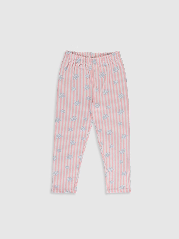 %50 Pamuk %50 Polyester Kız Çocuk Elsa Baskılı Pijama Takımı