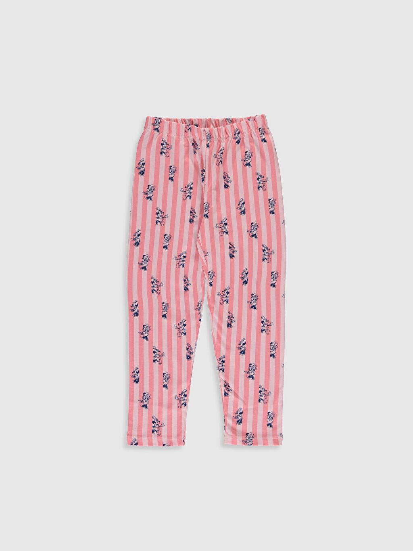 %100 Pamuk Kız Çocuk Minnie Mouse Baskılı Pamuklu Pijama Takımı