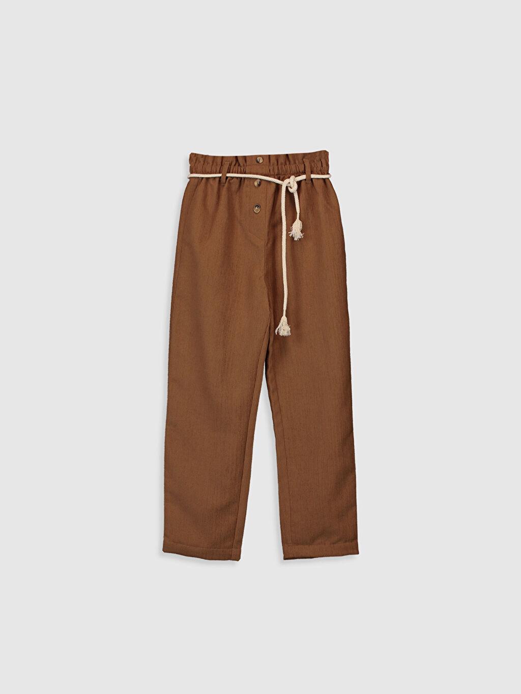 Kahverengi Kız Çocuk Kadife Pantolon 9WS802Z4 LC Waikiki