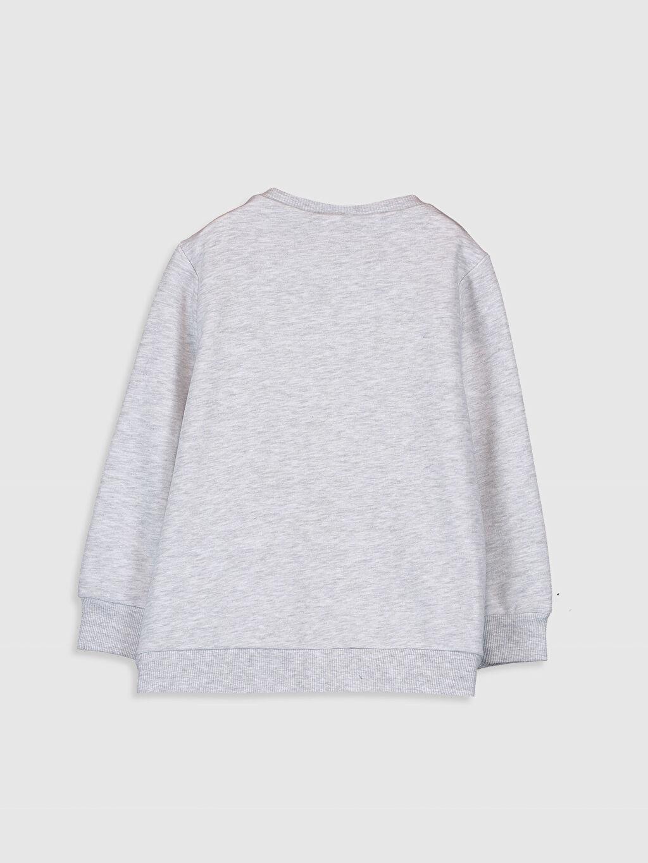 %52 Pamuk %48 Polyester  Kız Çocuk Baskılı Sweatshirt