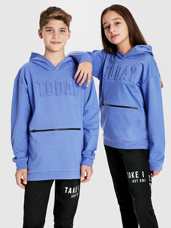 Erkek Çocuk Unisex Çocuk Kapüşonlu Sweatshirt