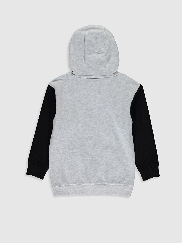 %62 Pamuk %38 Polyester  Unisex Çocuk Yazı Baskılı Kapüşonlu Sweatshirt