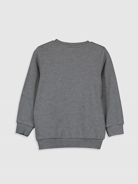 %67 Pamuk %33 Polyester Düz Dar Bisiklet Yaka Tişört Uzun Kol Erkek Çocuk Baskılı Tişört