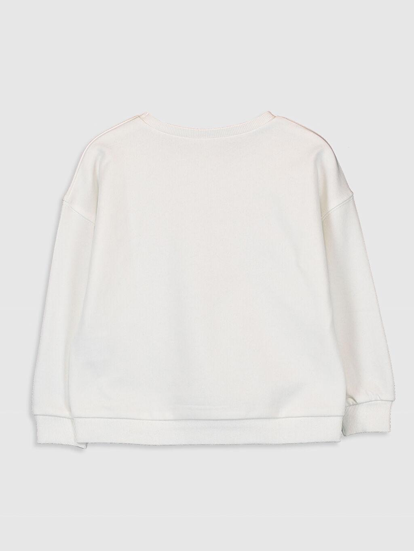 %69 Pamuk %31 Polyester  Kız Çocuk Baskılı Sweatshirt