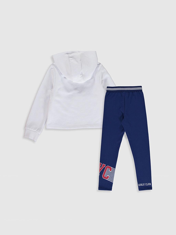 %69 Pamuk %31 Polyester  Kız Çocuk Sweatshirt ve Tayt