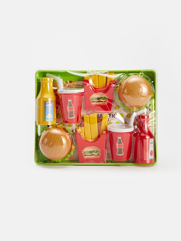 Çok Renkli Kız Çocuk Oyuncak Hamburger Seti 9WT785Z4 LC Waikiki