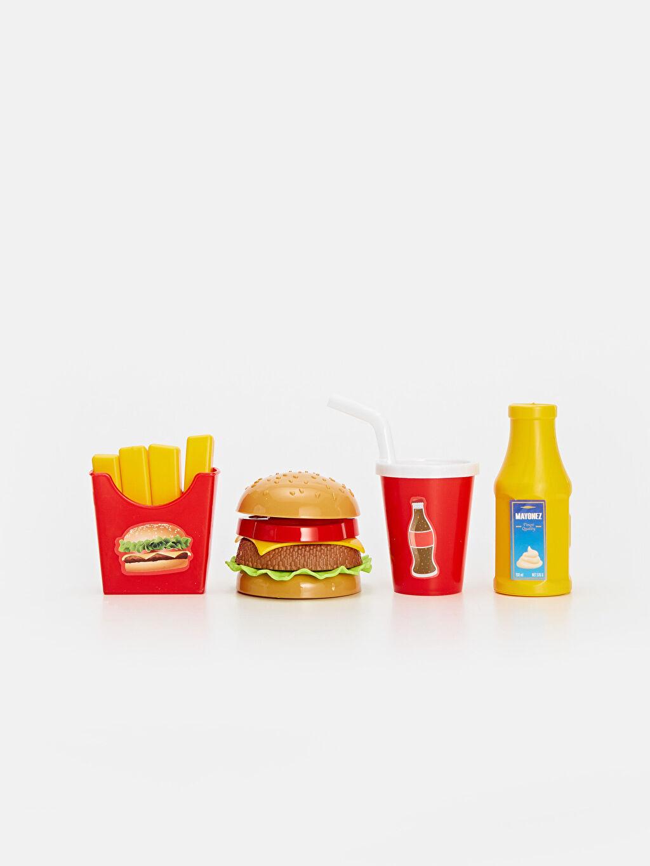 %100 Diğer Kız Çocuk Oyuncak Hamburger Seti