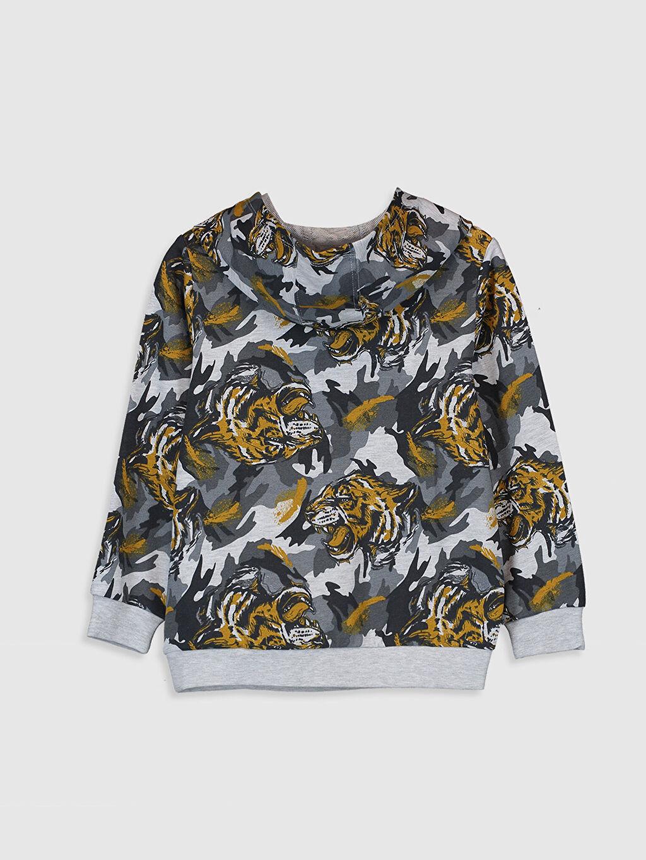 %63 Pamuk %37 Polyester  Erkek Çocuk Kapüşonlu Sweatshirt