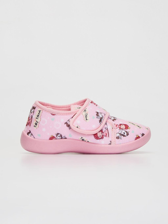 Pembe Kız Çocuk Cırt Cırtlı Ev Ayakkabısı 9WU471Z4 LC Waikiki