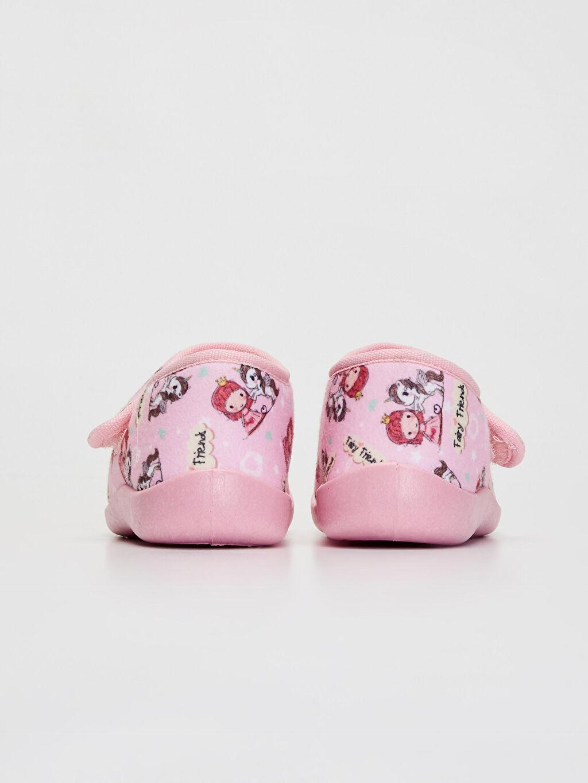 Kız Çocuk Cırt Cırtlı Ev Ayakkabısı