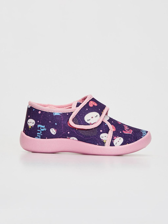Mor Kız Çocuk Cırt Cırtlı Ev Ayakkabısı 9WU471Z4 LC Waikiki