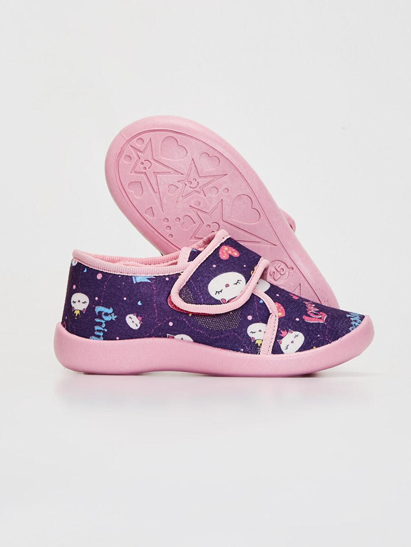 Kız Çocuk Kız Çocuk Cırt Cırtlı Ev Ayakkabısı